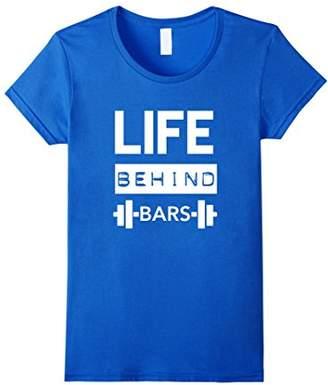 Life Behind Bars | Men's Gym Workout Weightlifing T Shirt |