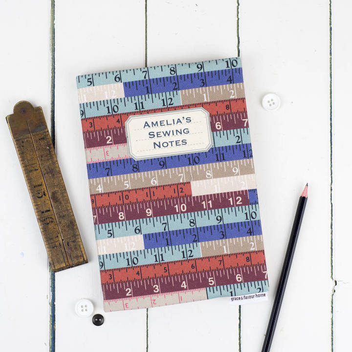 Grace & Favour Home Personalised Sewing Journal