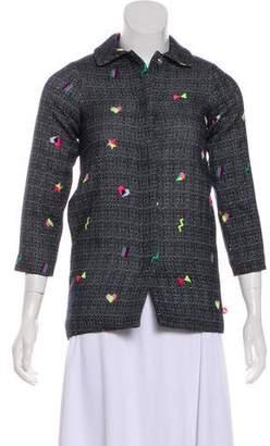 Billieblush Tweed Collared Jacket