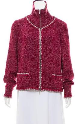 Chanel 2016 Knit Zip-Up Cardigan