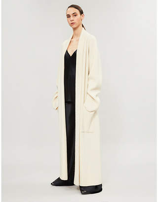 The Row Tappi belted ribbed cashmere cardigan