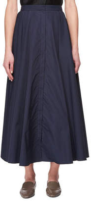 The Row Saga Long Pleated A-Line Skirt