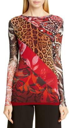 Fuzzi Leopard Patchwork Top