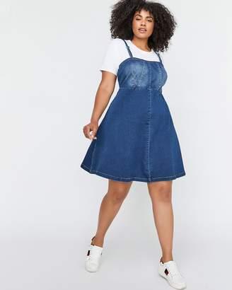 L&L Fit & Flare Bustier Denim Dress