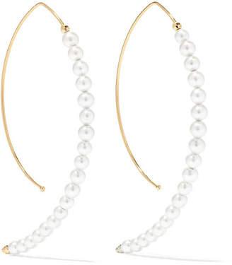 Mizuki 14-karat Gold Pearl Earrings
