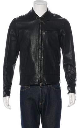 Todd Snyder Lambskin Zip Jacket