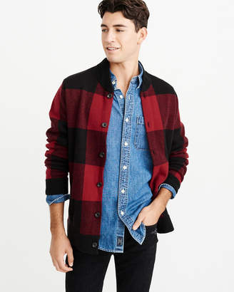 Abercrombie & Fitch Buffalo Check Bomber Sweater