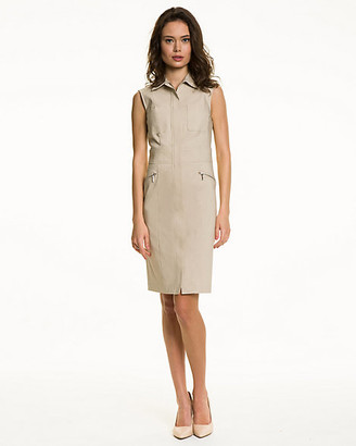 Le Château Stretch Woven Sleeveless Shirtdress