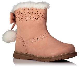George Pink Pom-Pom Trim Boots