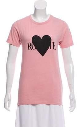 Rodarte Short Sleeve Graphic Top