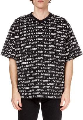 Balenciaga Men's Graphic V-Neck T-Shirt