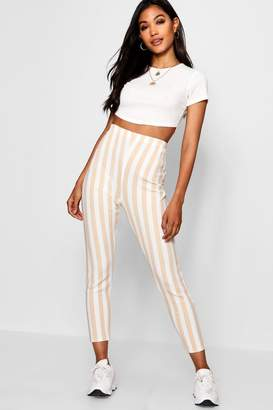 boohoo Tonal Bold Stripe Crepe Legging