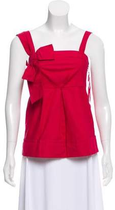 Marc by Marc Jacobs Half-Bow Accented Sleeveless Top