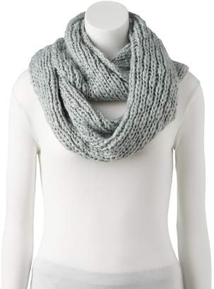 Lauren Conrad Women's Chunky Knit Lurex Infinity Scarf
