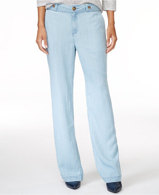 Maison Jules Chambray Wide-Leg Pants, Only at Macy's $59.50 thestylecure.com