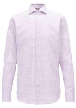 BOSS Hugo Check Cotton Dress Shirt, Regular Fit T-Stenson 17 Purple