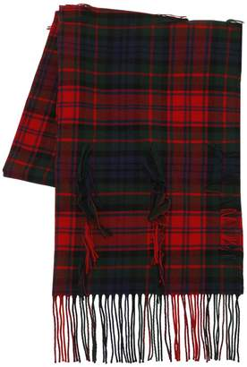Burberry Filcoupe Tartan Wool & Cashmere Scarf