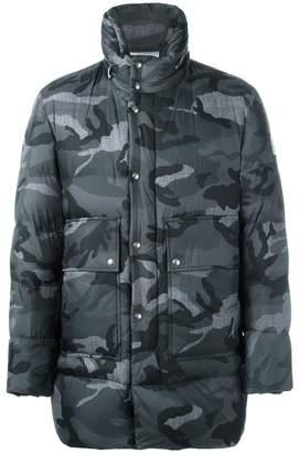 Moncler camouflage print coat