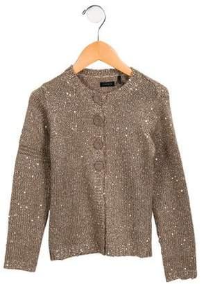 Ikks Girls' Embellished Button-Up Cardigan