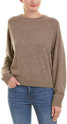 Vince Ribbed Trim Cashmere Sweater