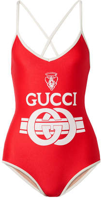 Printed Swimsuit - Red
