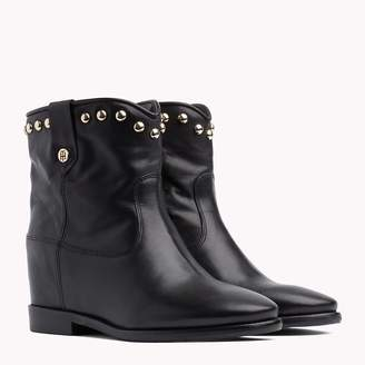 Tommy Hilfiger Studded Leather Ankle Booties