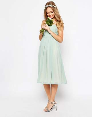 Asos Design DESIGN Bridesmaid ruched midi dress