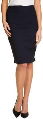 Le Château Women's Viscose Blend High Waisted Pencil Skirt