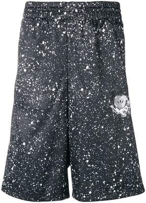 adidas printed elasticated waist shorts