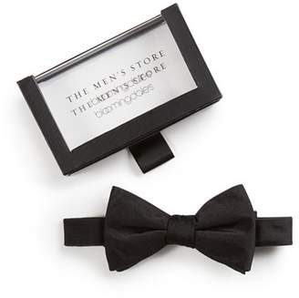 Bloomingdale's The Men's Store at Solid Satin Pre-Tied Bow Tie