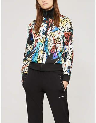 The Kooples Floral-print jersey bomber jacket