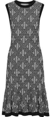 Carolina Herrera Ruffled Wool-Blend Jacquard Dress