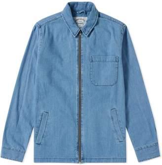 Portuguese Flannel Fecho Denim Zip Shirt Jacket