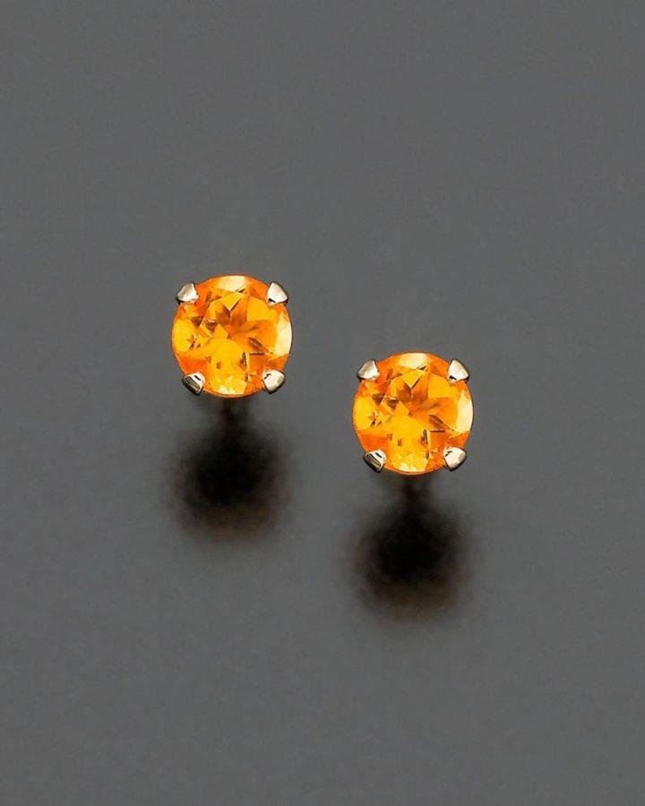 Children's 14k Gold Citrine Earrings