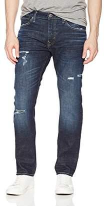 Vigoss Men's Lennon Destructed Straight Leg Jean
