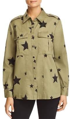Bloomingdale's Marled Star-Print Military Shirt Jacket