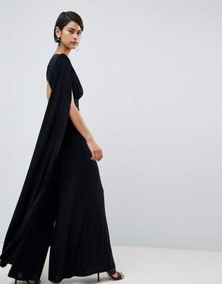 Black Cape Jumpsuit Shopstyle Australia