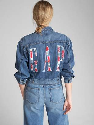 Gap Oversize Logo Icon Denim Jacket