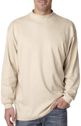 UltraClub Adult Egyptian Interlock Mock Turtleneck T-Shirt