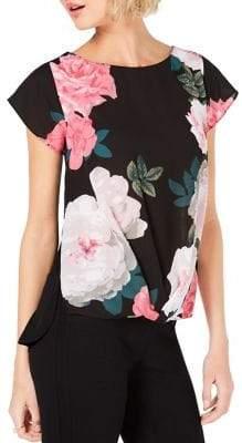 INC International Concepts Floral Front-Twist Top