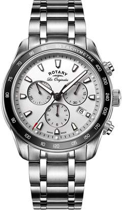 Rotary Legacy Men's Quartz Watch with Dial Chronograph Display and Stainless Steel Bracelet GB90169/02