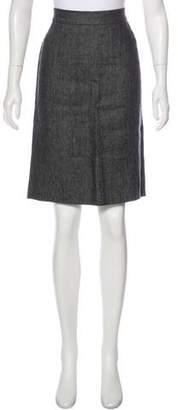 Narciso Rodriguez Linen Knee-Length Skirt