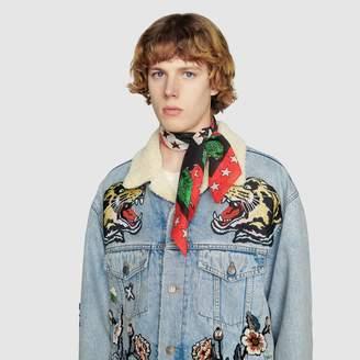 Gucci Cotton carre with symbols print