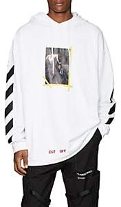 Off-White Men's Annunciation Cotton Terry Hoodie-White