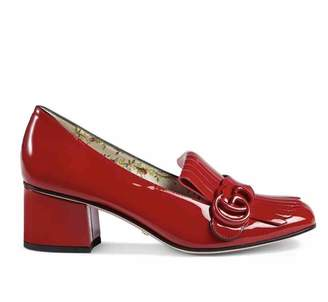 Gucci Marmont Red Patent leather Flats
