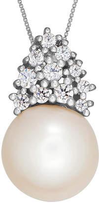 Swarovski SOFIA Certified Sofia Bridal Cultured Freshwater Pearl & Cubic Zirconia Silver Pendant
