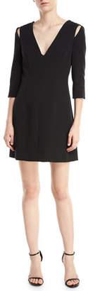 Milly Stephanie Stretch Crepe Dress