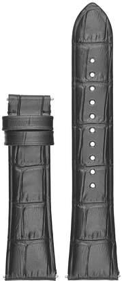 Emporio Armani Armani Alberto Embossed Leather Watch Strap, 22mm