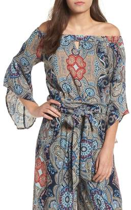 Band of Gypsies Bella Paisley Off the Shoulder Top