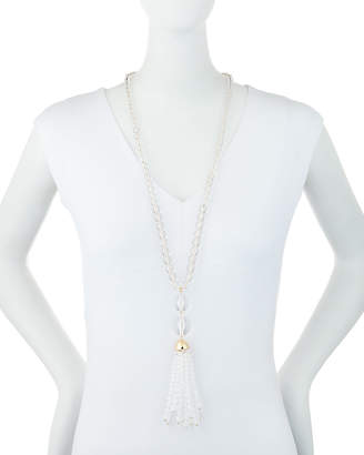 Lydell NYC Crystal Tassel Pendant Necklace